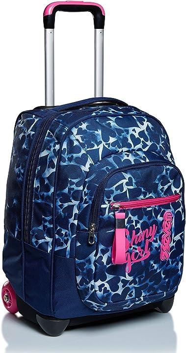 trolley seven dyed hearts blu 2 in 1 zaino con cross-over system scuola & viaggio b08759mzyw