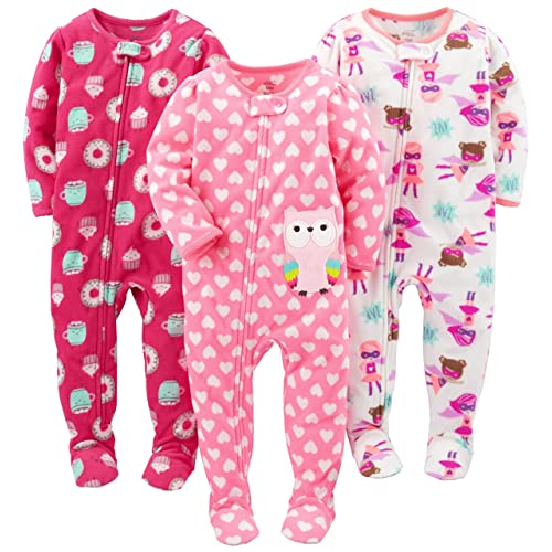Christmas Footie Pajamas For Kids.Toddler Footed Pajamas Girls Amazon Com