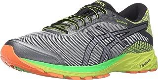 ASICS Men's Dynaflyte running Shoe, Mid Grey/Black/Safety Yellow, 13 M US