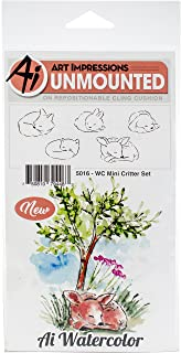Art Impressions 5016 Watercolor Cling Rubber Stamps, Multicolor