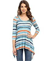 Karen Kane - Sunrise Stripe Handkerchief Top