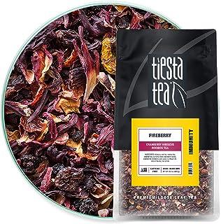 Tiesta Tea, Fireberry, Loose Leaf Cranberry Hibiscus Rooibos Tea, Non-Caffeinated, Hibiscus Tea, Flavorful Fruit Tea, 16oz...