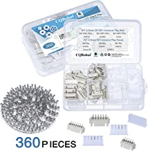 CQRobot 360 Pieces 2.54mm JST-XH-SMT JST Connector Kit. 2.54mm Pitch Female Pin Header, JST XH SMT - 5/6/7 Pin Housing JST Adapter Cable Connector Socket Male and Female, Crimp Dip Kit.