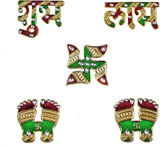 Handicraft Storeroom Traditional Design Wall/Door Hanging Shubh Labh with Swastik and Pagle (MEENARI Design) for The Comin...
