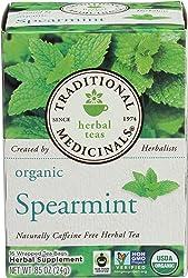 Traditional Medicinals Organic Spearmint herbal tea, Fair Trade Certified, 16 ct