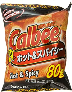 Calbee Potato Chips Hot & Spicy, 2.8-Ounce Units (Pack of 12)