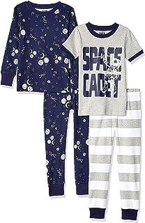 Spotted Zebra Snug-fit Cotton Pajamas Sleepwear Sets Niños, Pack de 4