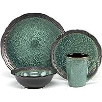 Cuisinart CDST1-S4JEG 16-Piece Jenna Stoneware Set (Green)