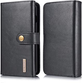 Samsung Galaxy S10 Wallet Case, Cowhide Leather Folio Flip Wallet Cases with Detachable SlimCase for Samsung Galaxy S10 6.1 Inch [15 Card Slots][Built-in Stand] (Black)