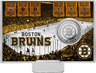 The Highland Mint NHL Boston Bruins History Coin Card, Silver, 8