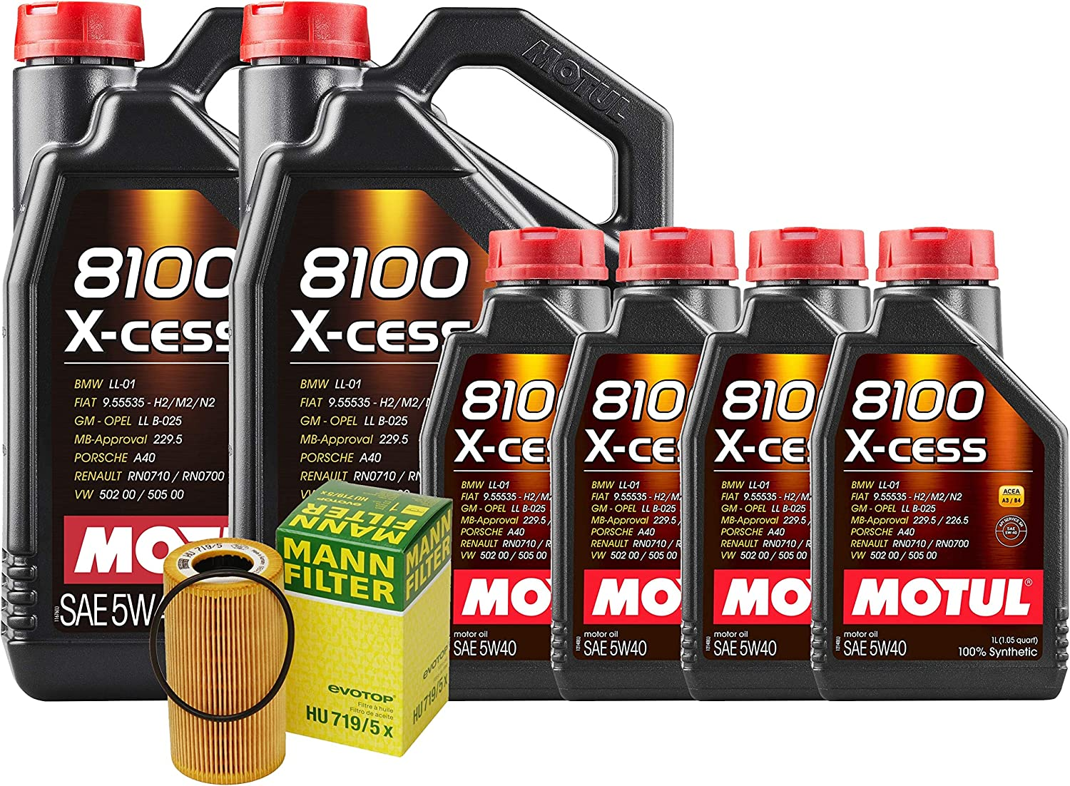 Newparts 14L 8100 X-Cess 5W-40 Filter Motor Carre Engine Oil Weekly update Kit free shipping