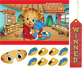 Daniel Tiger's Neighborhood Pin The Tail on The Donkey Style Party Game with Blindfold & Stickers! Plus 1st Winner Ribbon!