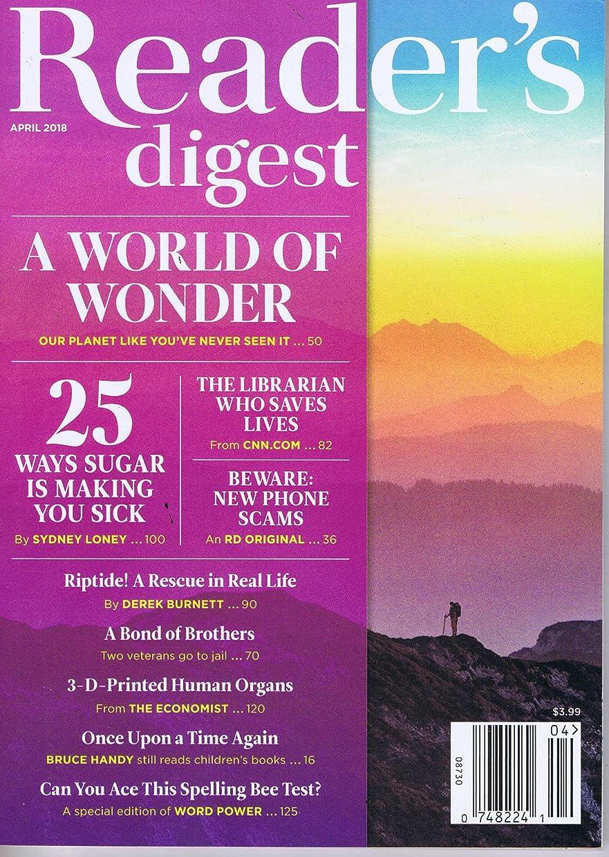 トラフ標準不名誉なReader's Digest (US) [US] April 2018 (単号)
