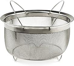 RSVP International Mesh Colander Strainer Basket with Folding Handles, 3 Quarts | For Pasta, Frying, & Salads | Dishwasher...