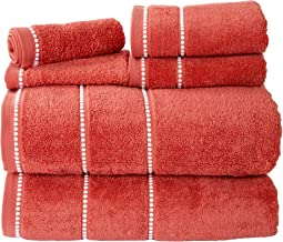 Luxury Cotton Towel Set- Quick Dry, Zero Twist and Soft 6 Piece Set With 2 Bath Towels, 2 Hand Towels and 2 Washcloths By ...