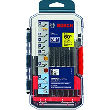Bosch T30C 30-Piece T-Shank Wood and Metal Cutting Jig Saw Blade Set