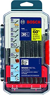 Bosch T30C 30-Piece T-Shank Wood and Metal Cutting Jig Saw Blade Set