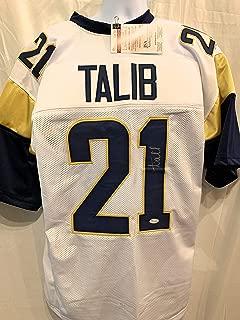 Aqib Talib Los Angeles Rams Signed Autograph White Custom Jersey JSA Witnessed Certified