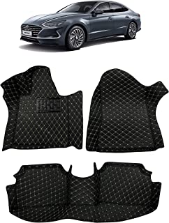 Custom Fit [Made in USA] All Weather Heavy Duty Full Coverage Floor Mat Floor Protection [Front and Rear] for 2020 Hyundai Sonata - Black Single Layer