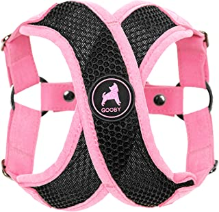 Gooby - Active X Step-In Harness, Choke Free Small Dog Harness with Synthetic Lambskin Soft Strap, Pink, Large