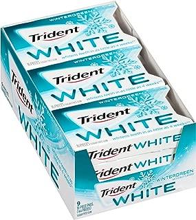 Trident White Sugar Free Gum (Wintergreen, 16 Piece, 9 Pack)