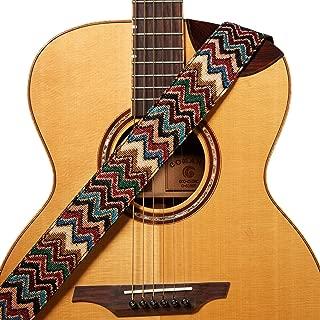 Amumu Chevron Jacquard Guitar Strap Multi-Color Cotton for Acoustic, Electric and Bass Guitars with Strap Blocks & Headstock Strap Tie - 2