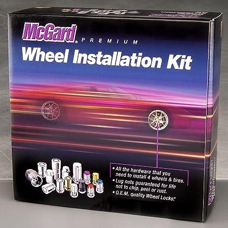 M12 x 1.25 Thread Size McGard 84554 Chrome Cone Seat Wheel Installation Kit for 5 Lug Wheels
