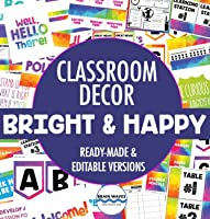 Classroom Decorations, Bright Classroom Posters, Rainbow Decor for School, Classroom Management and Set-Up, Motivational...