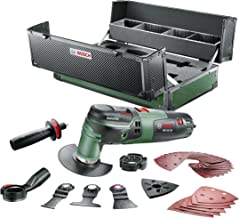Bosch PMF 250 Multitool, 250 watt, 39-delig accessoireset, jubileum editie, carbonbox)