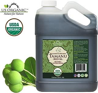 US Organic Tamanu Oil Bulk pack, USDA Certified Organic, 100% Pure Virgin Cold Pressed Unrefined, Dark Green Color (1 Gallon (128 fl oz))