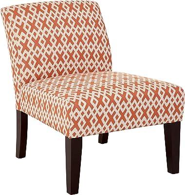 Carver Avington Slipper Chair, One Size, Orange and Cream
