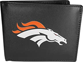 Siskiyou Sports Minnesota Vikings Leather Bi-fold Wallet, Large Logo