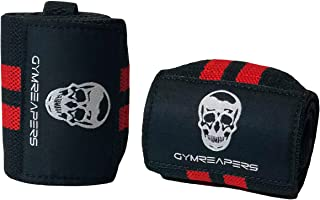 "Gymreapers Weightlifting Wrist Wraps (Competition Grade) 18"" Professional Quality Wrist Support with Heavy Duty Thumb Loop - Best Wrap for Powerlifting, Strength Training, Bodybuilding"