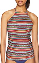 Anne Cole Women's High Neck Tankini Swim Top with Strappy Back Detail