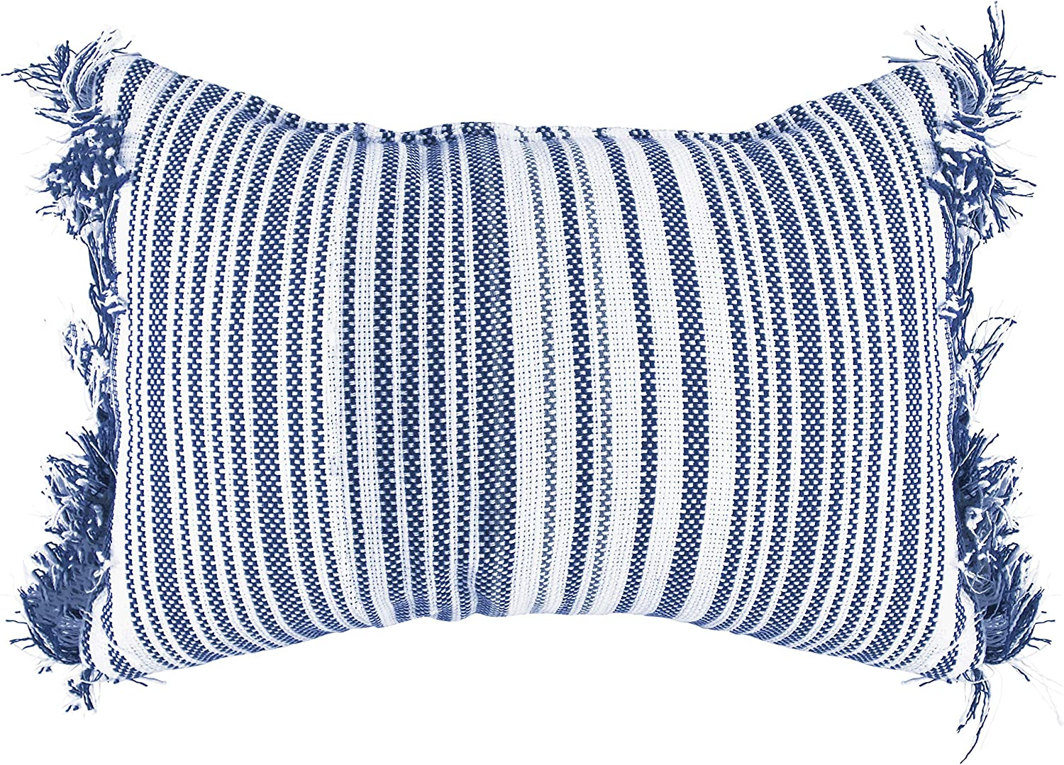 Baytown Striped Import Woven famous Poly Filled 12x20 Decorative Boho T Lumbar