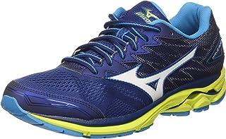 MIZUNO J1GC170307 Wave Rider 20 Men's Running Shoes, Blue Depth/White/Sulfur Spring
