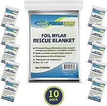 Primacare HB-10 Emergency Foil Mylar Thermal Blanket (Pack of 10), 52