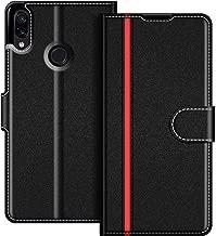 COODIO Custodia per Xiaomi Redmi Note 7, Custodia in Pelle Xiaomi Redmi Note 7, Cover a Libro Xiaomi Redmi Note 7 Magnetica Portafoglio per Xiaomi Redmi Note 7 Cover, Nero/Rosso