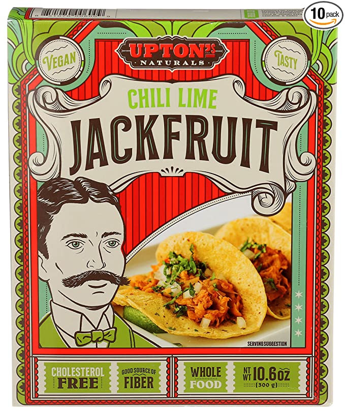 Upton's Naturals Jackfruit - 10.6 oz boxes (Pack of 10) (Chili Lime)