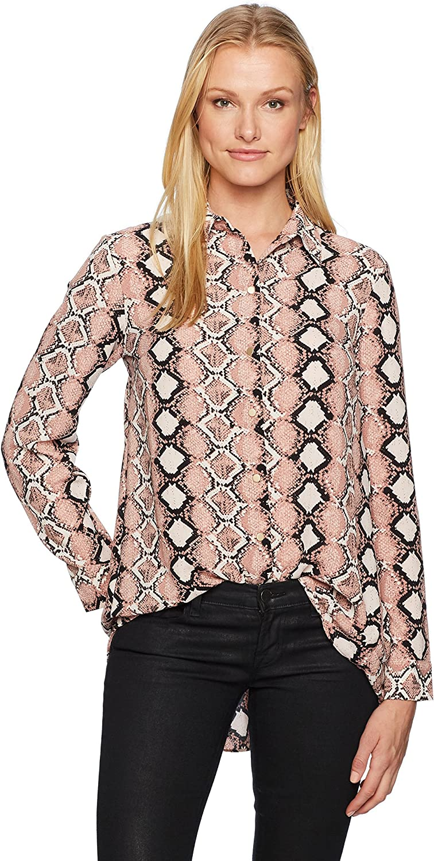 Jones New York Womens Button FRNT Hi Low Shirt W Back Shirring ButtonDown Shirt