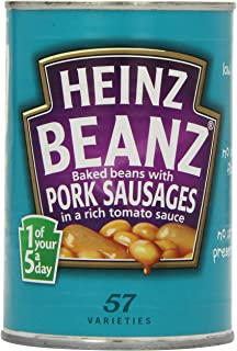 Heinz Baked Beans and Pork Sausages Large Size 415g by Heinz [Foods]