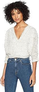 قميص نسائي من Lucca Couture مطبوع عليه Nicole Surplice مع تفاصيل بنتوك SLV