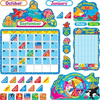Trend Enterprises Sea Buddies Calendar Bulletin Board Set (TEP8306)