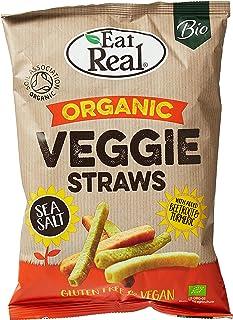 Eat Real Organic Veggie Straws Sea Salt 100g (Pack of 1)