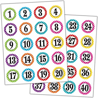Best numbered stickers 1-30 Reviews