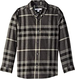Burberry Kids Exploded Scale Check Shirt (Little Kids/Big Kids)