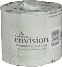 Envision 1-Ply Embossed Toilet Paper by GP PRO (Georgia-Pacific), 19841/01, 550 Sheets Per Roll, 40 Rolls Per Case