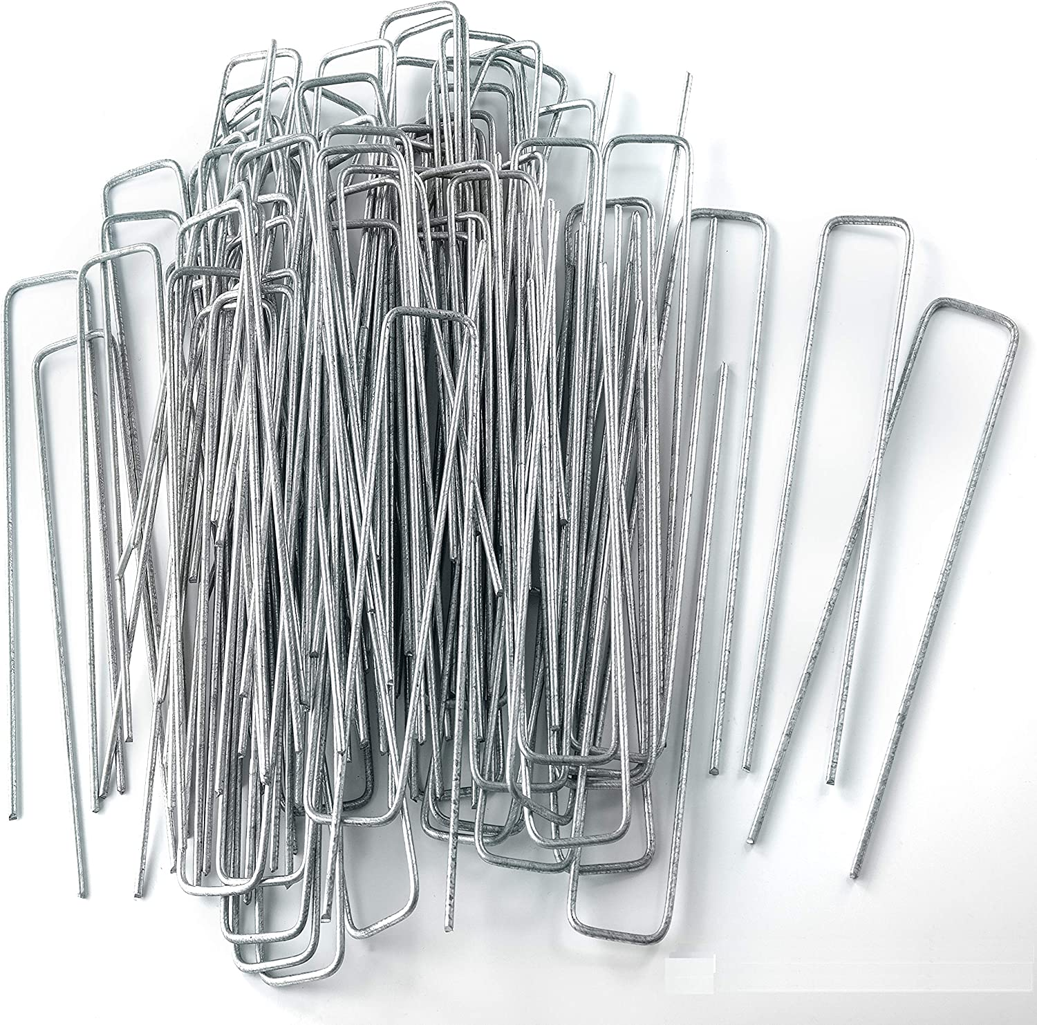 """NHZ Seasonal Wrap Introduction Garden Landscape Staples Stakes Set 100 of x Pins 8.7"""" Ranking TOP9"""