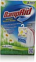 DampRid FG83K Hanging Moisture Absorber Fresh Scent, 3 Count, 42 Ounce