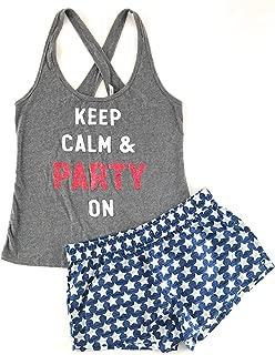 Victoria's Secret Pajama Set Mayfair Cotton Boxer Short and Graphic Crossback Tank